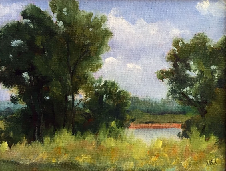 Plein air painting at Cliff Cave Park