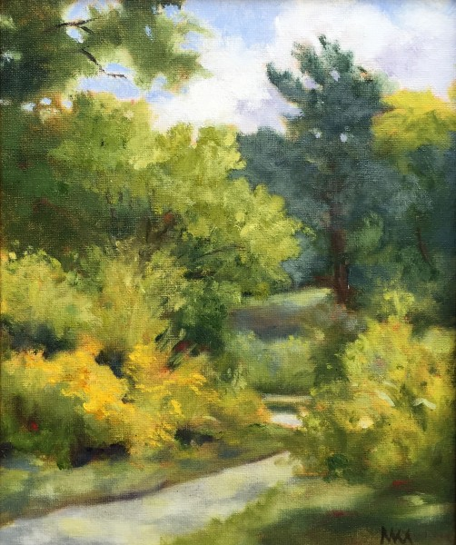Plein air painting in Forest Park