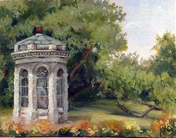 Plein air in the Missouri Botanical Garden