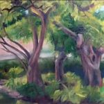 Margaret von Kaenel wins Second Place in the Second Annual  University City In Bloom Plein Air Competition